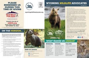 Wyoming Wildlife Advocates Newsletter (outside)