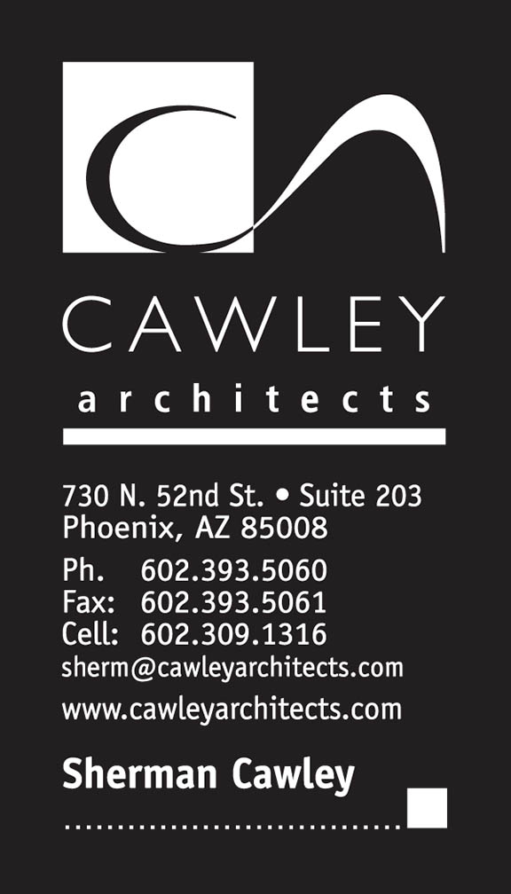 Cawley Architects business card