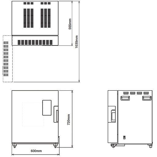 小型電気窯 DMT-01 外形図