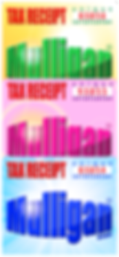 Mulligan® brand tax receipts   Color: Assorted