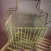 Vintage Green Basket