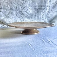 Wooden Cake Stand Gold