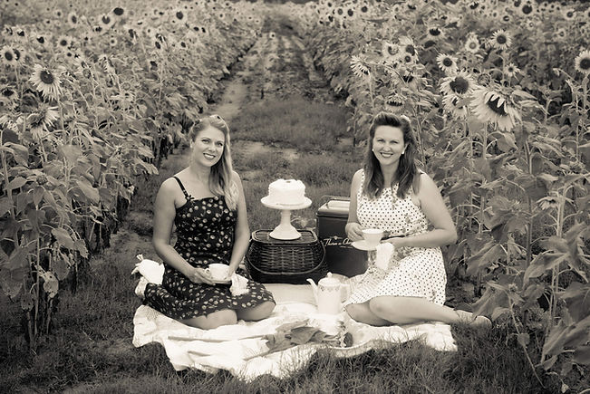 Picnic in a sunflower field
