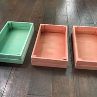 Colored Wooded Crates