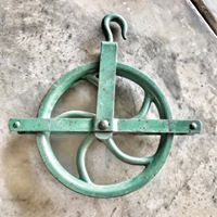 Vintage Green Pulley