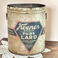 50 lb. Keener Lard Container