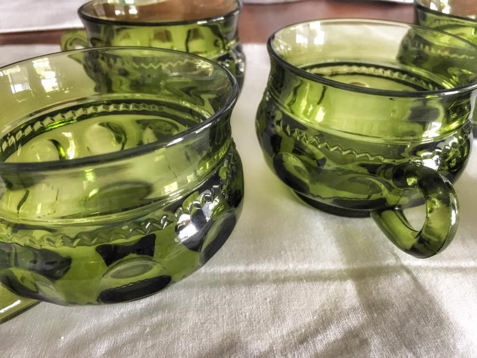 Small Green Glassware