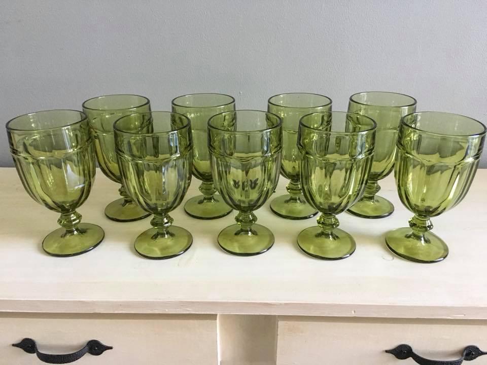 Large Green Goblets
