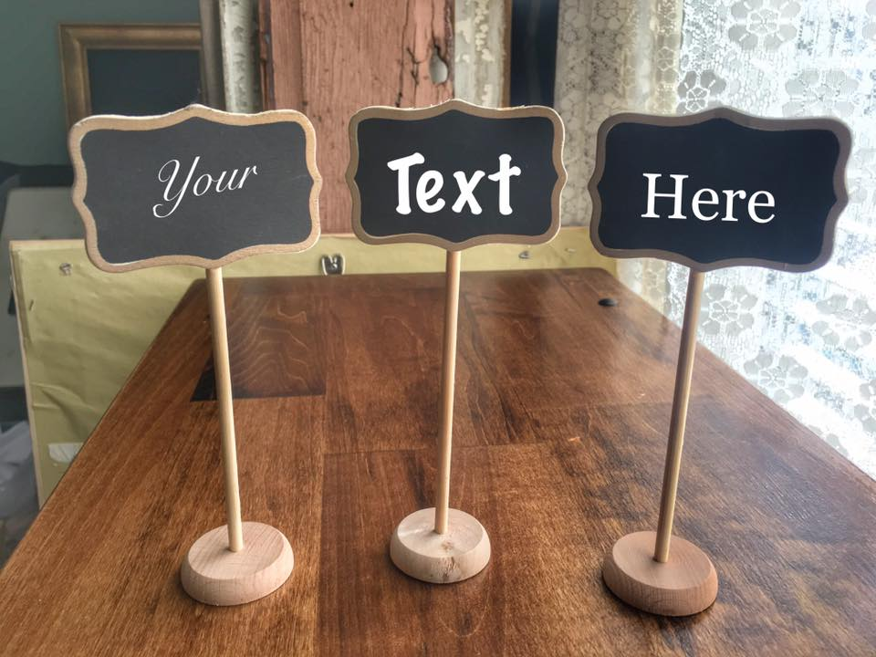 Mini Standing Chalkboards