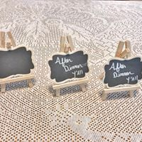 Small Scalloped Easel Chalkboards