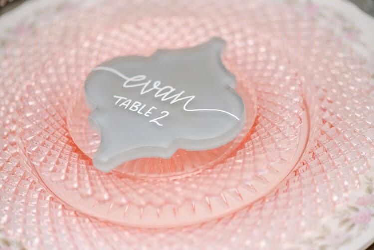 Pink Depression Glass Dessert Plates