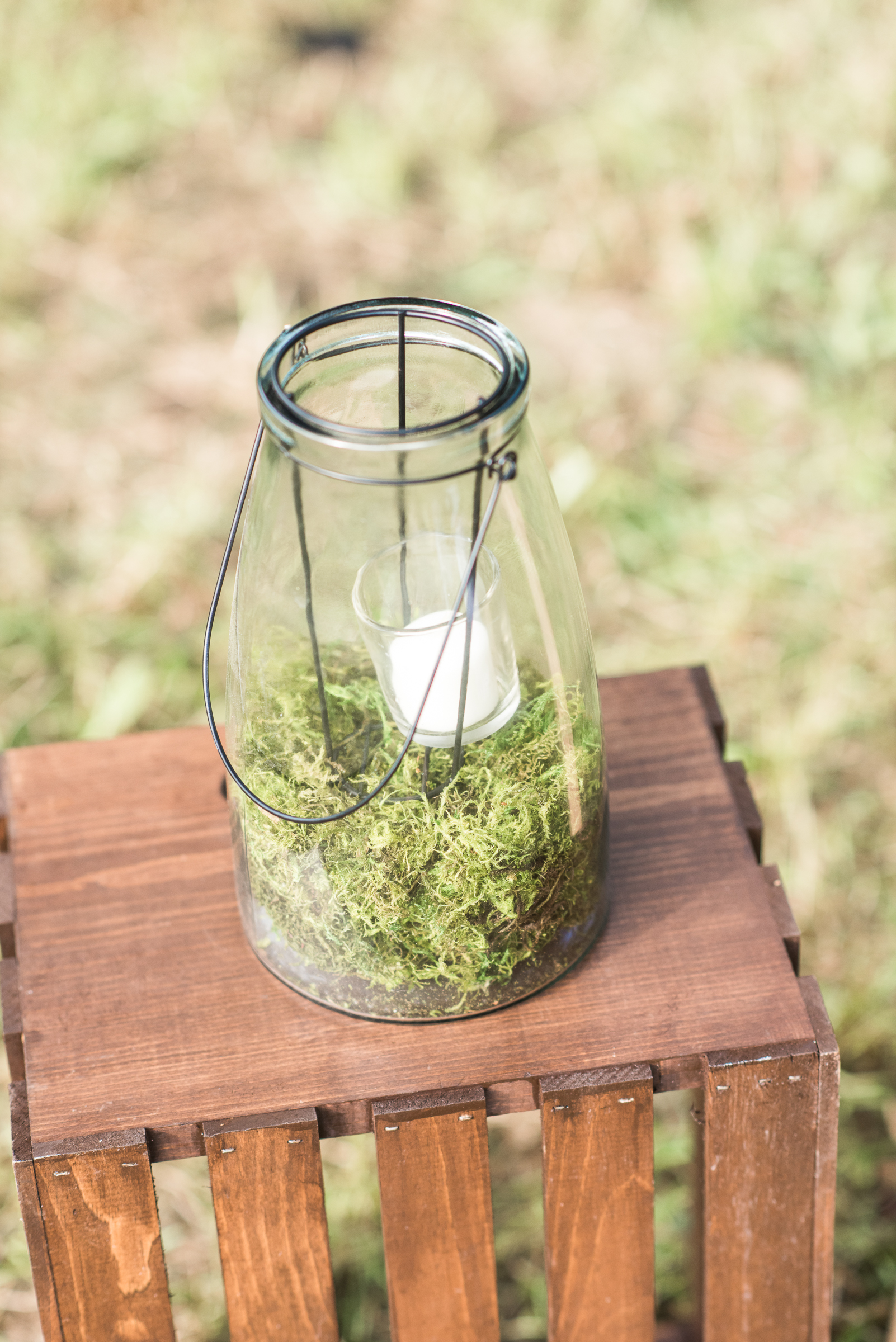 Large Glass Candle Containers
