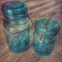 Vintage Bell Mason Jars