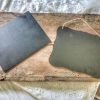 Square and Scalloped Chalkboards