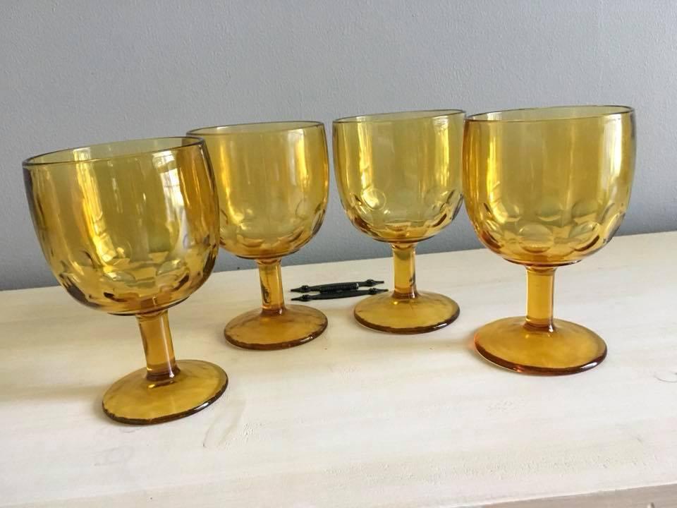 Large Gold Goblets