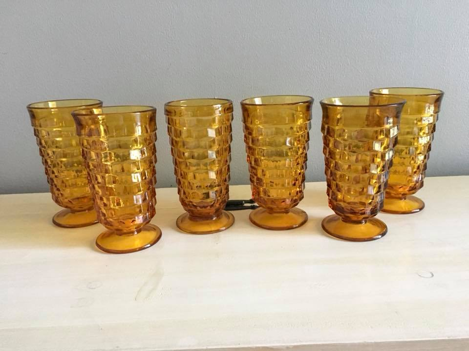 Tall Bronze Water Goblets