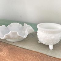 Milk Glass Containers