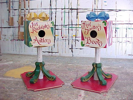 """Interactive """"touch and feel"""" boxes. Perfect activity for kids waiting in line to see Santa!"""