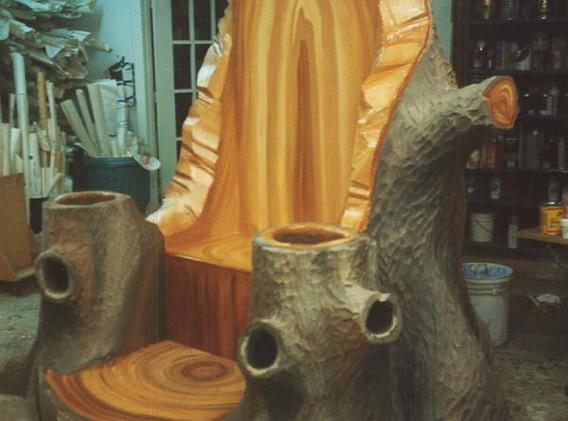 Woodland Santa Throne.
