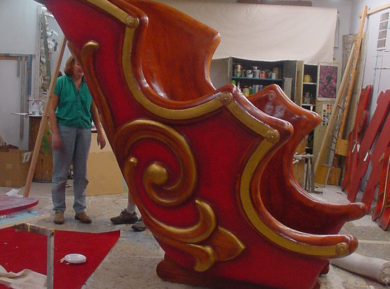 Side view of our holiday sleigh.
