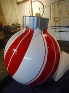 Peppermint striped 4ft ornament.