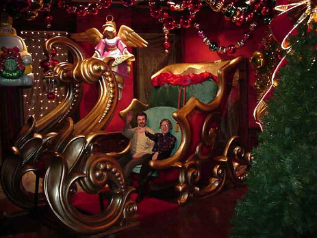 Full size sleigh with gift sack and lighting.  Addons and options available!