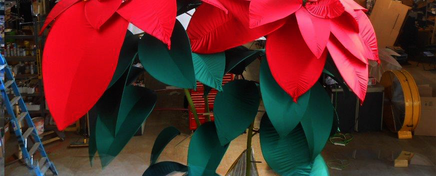 Giant fabric poinsettia
