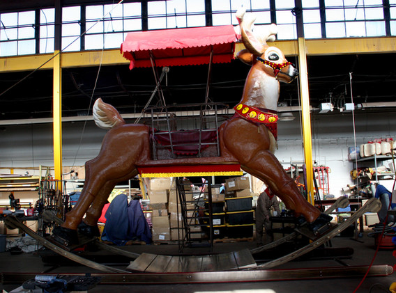 Our horse can transform into a reindeer ready to pull Santa's sleigh.
