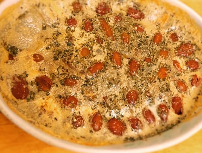 Clafoutis Végan aux tomates cerises