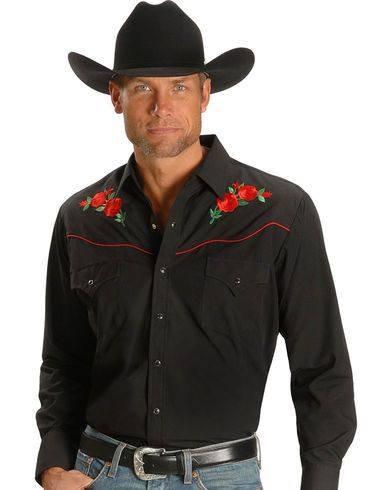 Ely Cattlemen Rose Emboidered Shirt