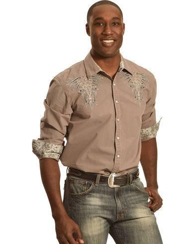 """""""Crazy Cowboy"""" Western style shirt"""