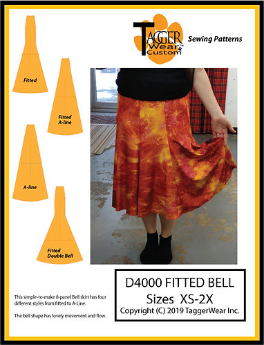 TW Fitted Bell Skirt Sewing Pattern