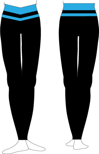 Legging with colour