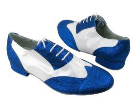 M100101 Blue Gem & White, size 10 1/2