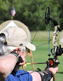 Bob at the Valor Games Archery Tournament