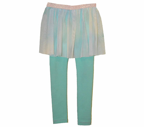 Minty Green skirted legging