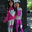 Thumbnail: Pink Foil/ Sparkle Leggings