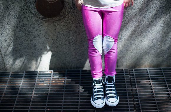 Pink Foil/ Sparkle Leggings