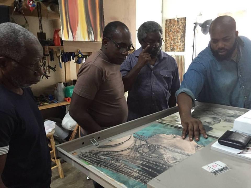 Talking to artists Olu Amoda, Raqib Bashorun and Peter Coker about my new body on work on paper.