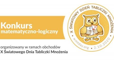 Konkurs matematyczno-logiczny ARCYMISTRZ MNOŻENIA 5-18.10.2020 r.