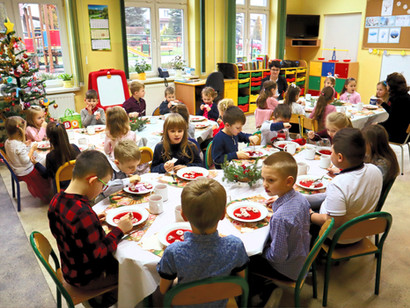 Wigilia wśród najmłodszych wychowanków szkoły
