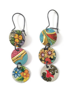 Mismatched Droplet Earrings