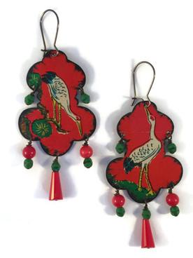 Chinese Bird Earrings