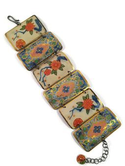 Linked Floral Bracelet
