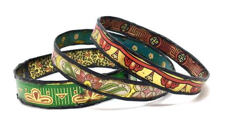 Vintage Tin Bracelets