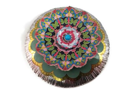 Floral Mandala Brooch