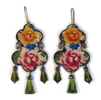 Vintage Flower Garden Earrings