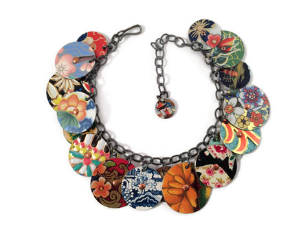 Vintage Tin Charm Bracelet