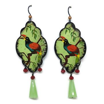 Tropical Bird Earringss