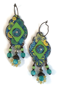 Aqua Layered Earrings